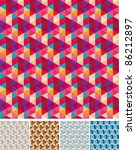 collection of seamless patterns   Shutterstock .eps vector #86212897