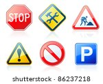 vector set of original road... | Shutterstock .eps vector #86237218