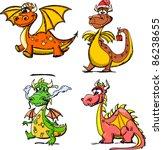 Cartoon Cute Dragon  A Symbol...