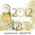new year. all elements and... | Shutterstock .eps vector #86238778