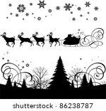 santa's sleigh.  all elements... | Shutterstock .eps vector #86238787