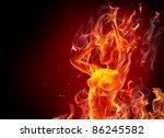 Fire Girl Dancing