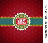 christmas background with... | Shutterstock .eps vector #86245771