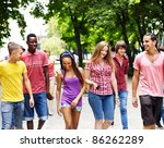 multi ethnic group of people... | Shutterstock . vector #86262289