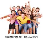 multi ethnic group people ... | Shutterstock . vector #86262604