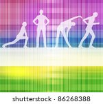Neon abstract lines design on white background vector - stock vector