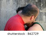 men kissing - stock photo