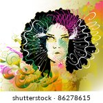 vector girl | Shutterstock .eps vector #86278615