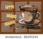 coffee abstract background | Shutterstock .eps vector #86293144