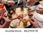 business lunch   group of... | Shutterstock . vector #86294578
