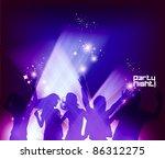 people dancing in the club... | Shutterstock .eps vector #86312275