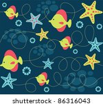 seamless baby pattern. vector...