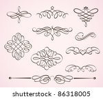 vector illustration set of... | Shutterstock .eps vector #86318005
