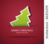 christmas tree applique vector... | Shutterstock .eps vector #86331295