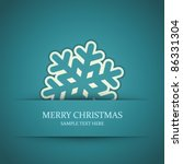 christmas snowflake applique... | Shutterstock .eps vector #86331304