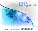 tech background in the blue | Shutterstock .eps vector #86340646