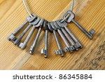 Huge Set Of Keys On A Table