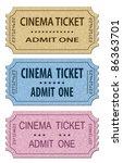 cinema tickets set. vector... | Shutterstock .eps vector #86363701