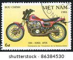 viet nam   circa 1985  stamp...   Shutterstock . vector #86384530