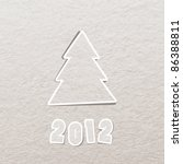 vector christmas tree made from ... | Shutterstock .eps vector #86388811