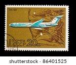 ussr   circa 1969  a stamp... | Shutterstock . vector #86401525
