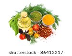 cooking oil  spice  tomato and...   Shutterstock . vector #86412217