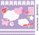 Set Of Scrapbook Elements On...