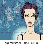 vector illustration of a young...