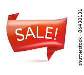 sale origami  isolated on white ... | Shutterstock .eps vector #86438131