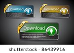 download glossy buttons with... | Shutterstock .eps vector #86439916