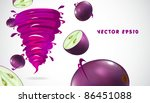 grape with juicy twister | Shutterstock .eps vector #86451088