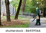 Landscaper Worker Cleaning Foo...