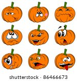 vector pumpkins collection is... | Shutterstock .eps vector #86466673