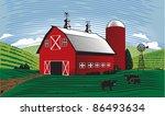 barn scene | Shutterstock .eps vector #86493634