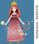 the small fairy. | Shutterstock .eps vector #86501476