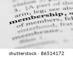 dictionary series   membership | Shutterstock . vector #86514172