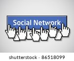 social network button 2 | Shutterstock .eps vector #86518099