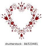 heart frame - stock vector