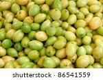 fresh green jujubes | Shutterstock . vector #86541559