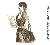 The Singer   Vintage Engraved...
