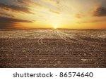 Sunset Over Autumn Field....