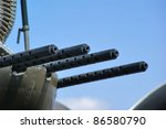 close up of machine guns used...   Shutterstock . vector #86580790