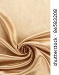 Golden silk textile background - stock photo