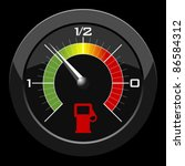 Fuel Gauge Colored Scale Over...