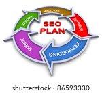 3d colorful flow chart diagram... | Shutterstock . vector #86593330