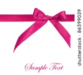 Pink Ribbon Isolated On White...