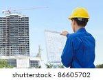 male contractor or civil... | Shutterstock . vector #86605702