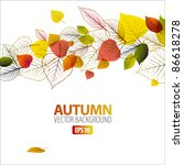 Vector Autumn Abstract Floral...