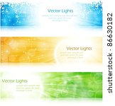 vector header   banner light... | Shutterstock .eps vector #86630182