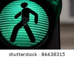 Traffic lights with the green light lit. - stock photo